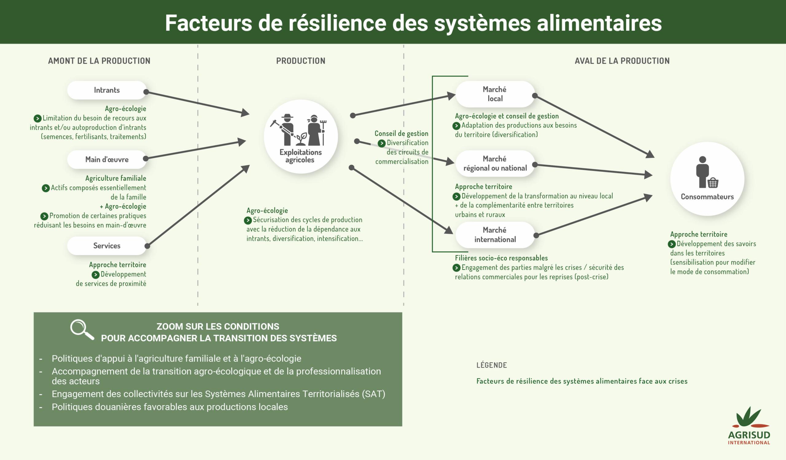 infographie des facteurs de résilience des systèmes alimentaires