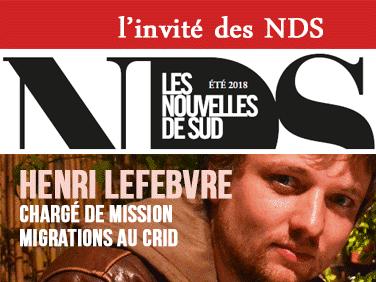 L'invité des NDS: Henri Lefebvre, chargé de mission migrations au Crid