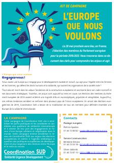 Kit de mobilisation Elections européennes 2019 par Coordination SUD