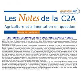 Les Notes de la C2A n°11 : les terres cultivables non cultivées dans le monde
