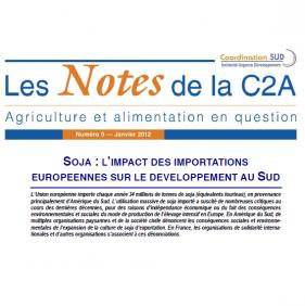 Les Notes de la C2A n°9 : L'impact des importations européennes de soja sur le développement au Sud