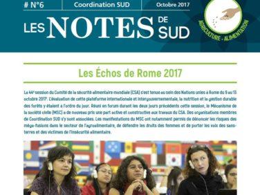 Les Notes de SUD n°6: Les Échos de Rome 2017