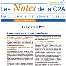 Les Notes de la C2A n°2 : la Pac et les PED