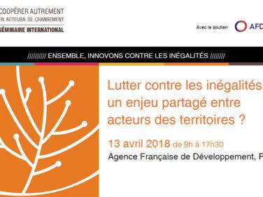 Lutter contre les inégalités: enjeu partagé entre acteurs des territoires? – Séminaire international