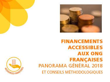 Les financements accessibles aux ONG françaises: panorama général et conseils méthodologiques 2018