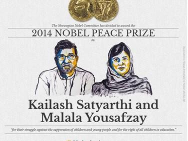 Prix noblel de la paix 2014 décerné à Malala Yousafzai et Kailash Satyarthi