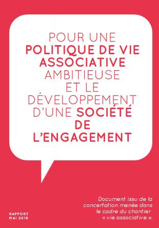 POUR UNE POLITIQUE DE VIE ASSOCIATIVE AMBITIEUSE ET LE DÉVELOPPEMENT D'UNE SOCIÉTÉ DE L'ENGAGEMENT