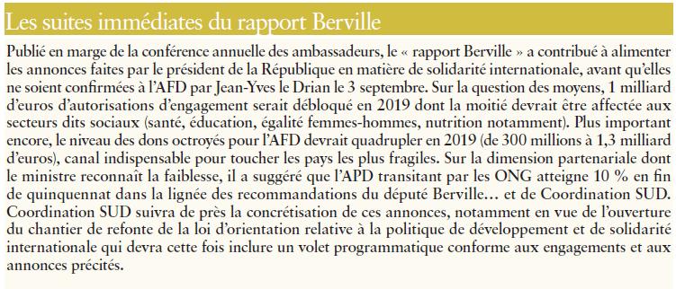 rapport Hervé Berville, quelles suites?