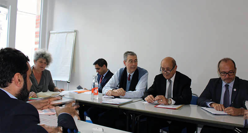 Discussion entre Coordination SUD et Jaan-Yves Le Drian