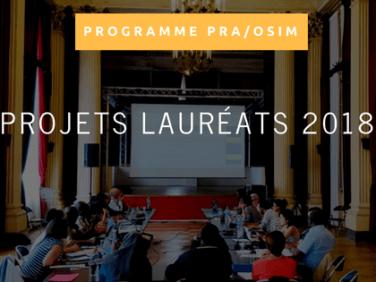 PRA/OSIM 2018: la liste des projets lauréats est disponible!
