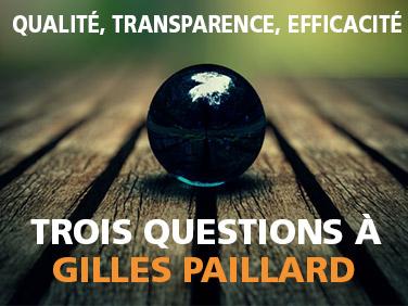3 question à Gilles Paillard sur la transparence et l'efficacité des ONG